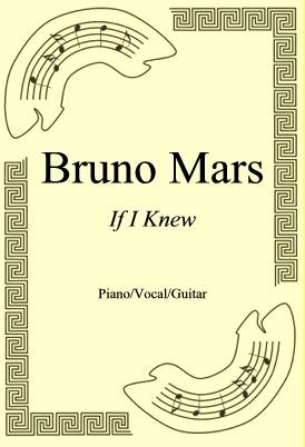 Okładka: Bruno Mars, If I Knew