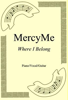 Okładka: MercyMe, Where I Belong