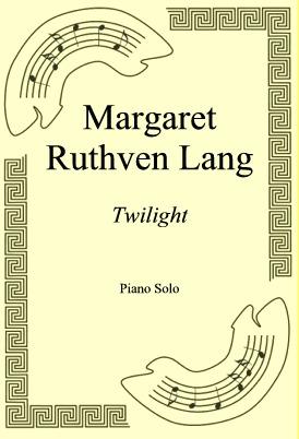 Okładka: Margaret Ruthven Lang, Twilight