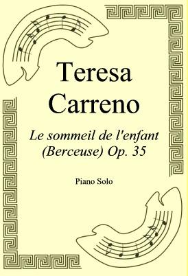 Ok�adka: Teresa Carreno, Le sommeil de l'enfant (Berceuse) Op. 35