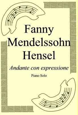 Okładka: Fanny Mendelssohn Hensel, Andante con espressione