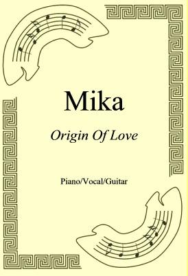 Okładka: Mika, Origin Of Love