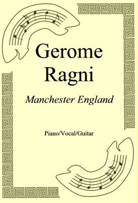 Ok�adka: Gerome Ragni, Manchester England