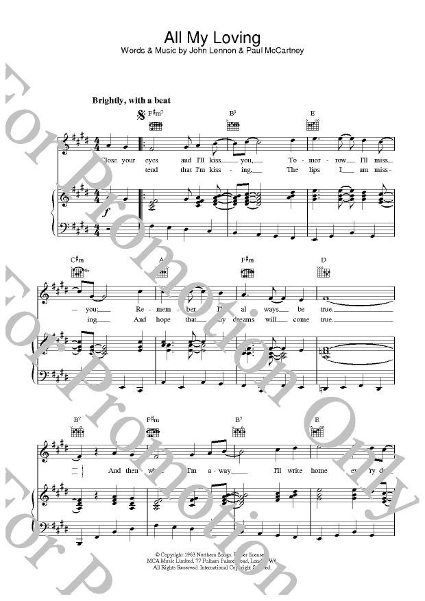 KLIKNIJ aby powiększyć prezentację publikacji: The Beatles, All My Loving