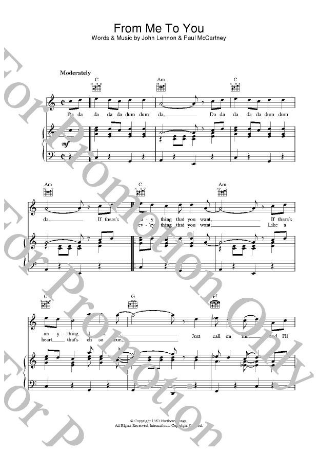 KLIKNIJ aby powiększyć prezentację publikacji: The Beatles, From Me To You