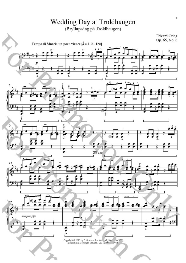 All Music Chords grieg wedding day at troldhaugen sheet music : Wedding Day At Troldhaugen - nuty.pl