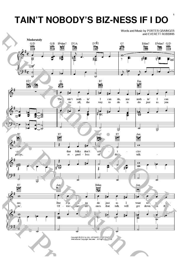 KLIKNIJ aby powiększyć prezentację publikacji: Bessie Smith, Tain't Nobody's Biz-ness If I Do