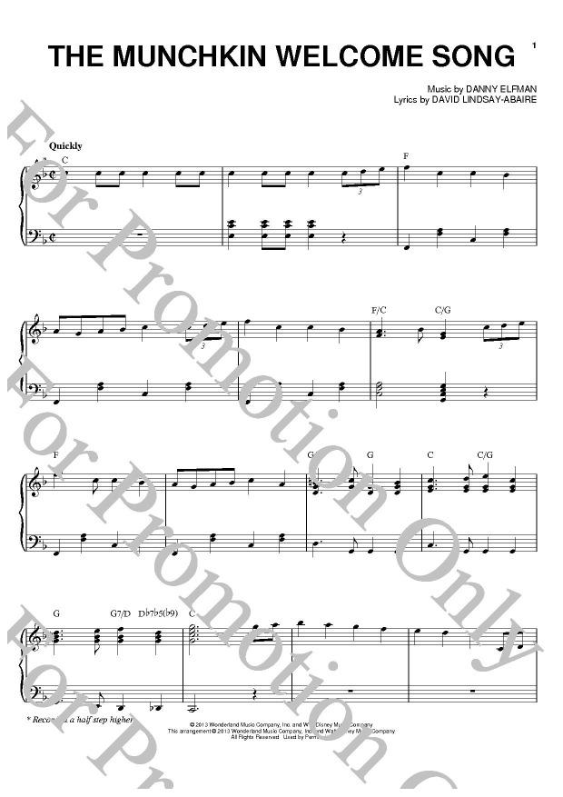 KLIKNIJ aby powiększyć prezentację publikacji: Danny Elfman, The Munchkin Welcome Song