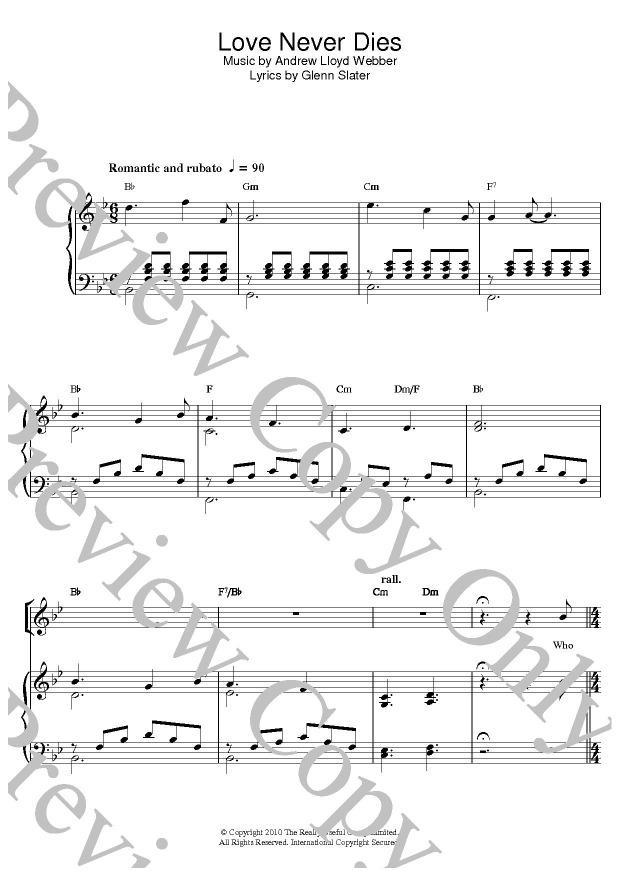 KLIKNIJ aby powiększyć prezentację publikacji: Andrew Lloyd Webber, Love Never Dies